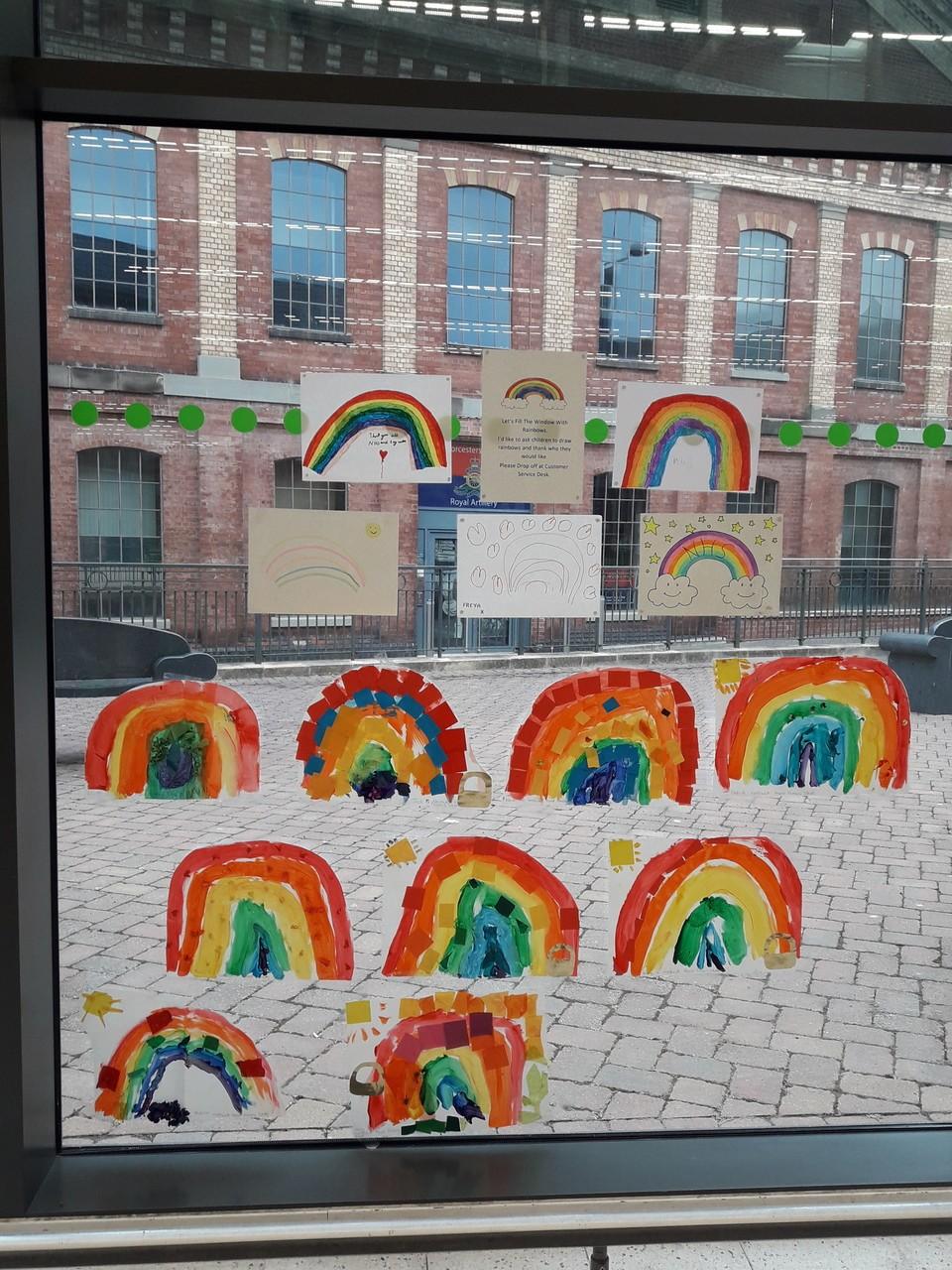 Rainbows brighten up our window | Asda Worcester