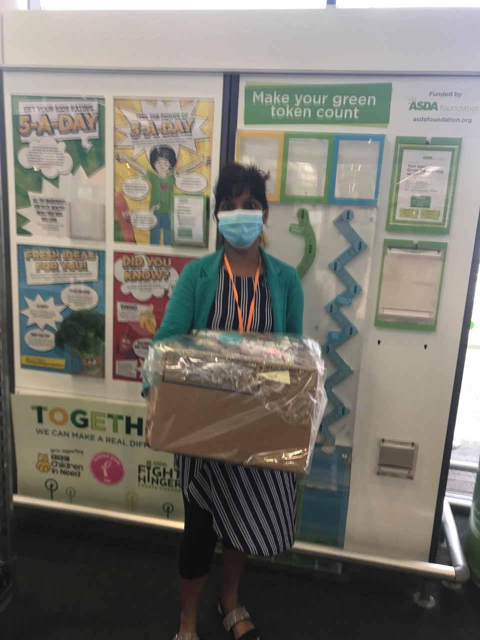 Donation of face masks and craft items to local care homes | Asda Swindon Haydon