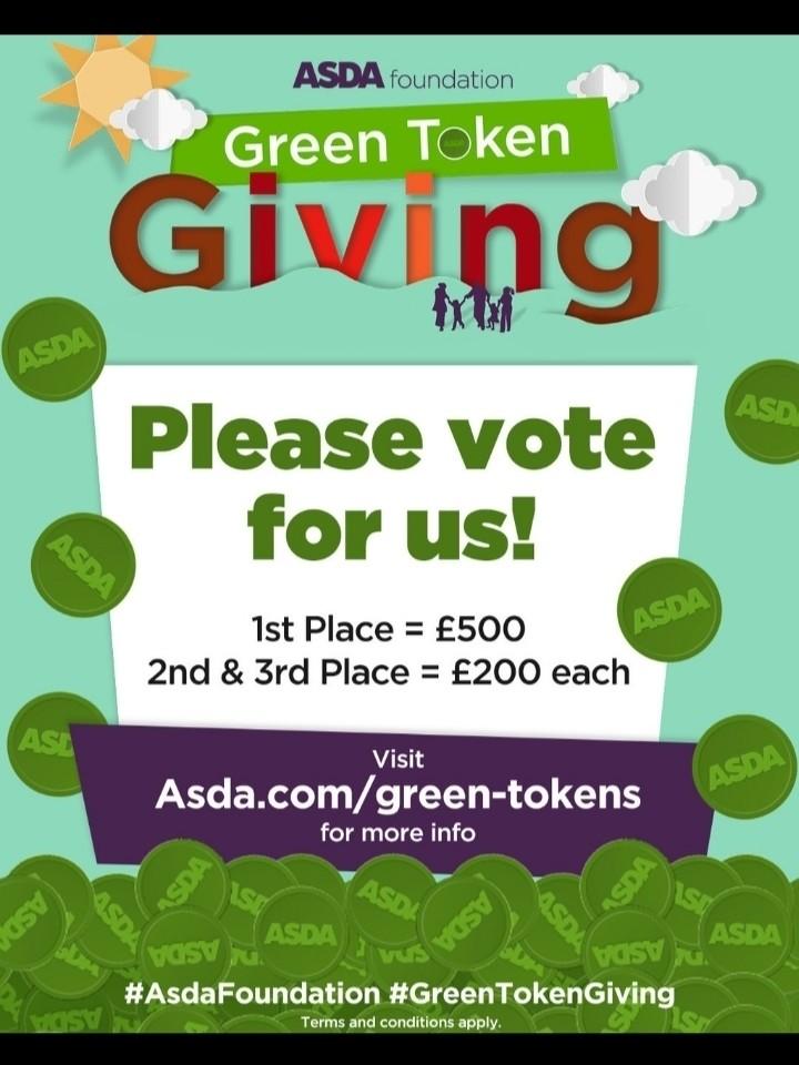 Green token giving is back | Asda Leyton Mills