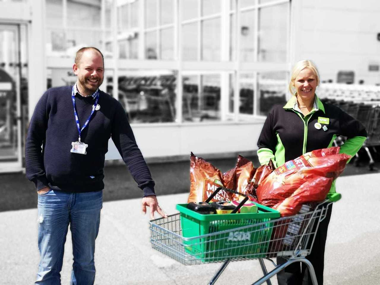 Donation of treats to the homeless | Asda Derby