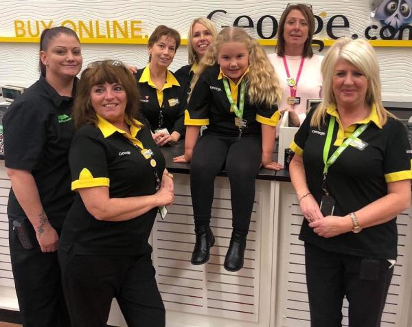 Asda Havant George colleagues with Lily Broom