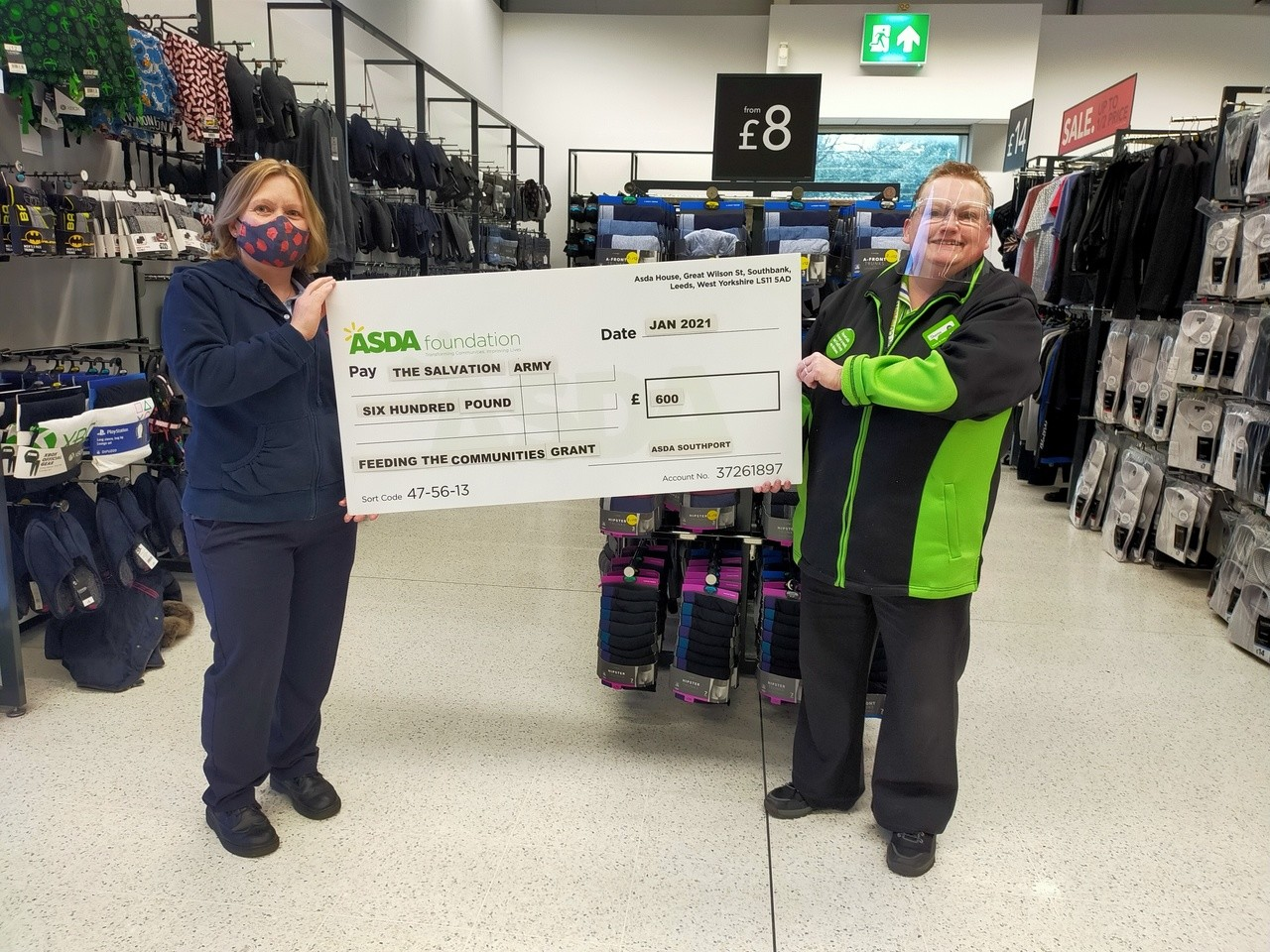 Grant to Salvation Army | Asda Southport