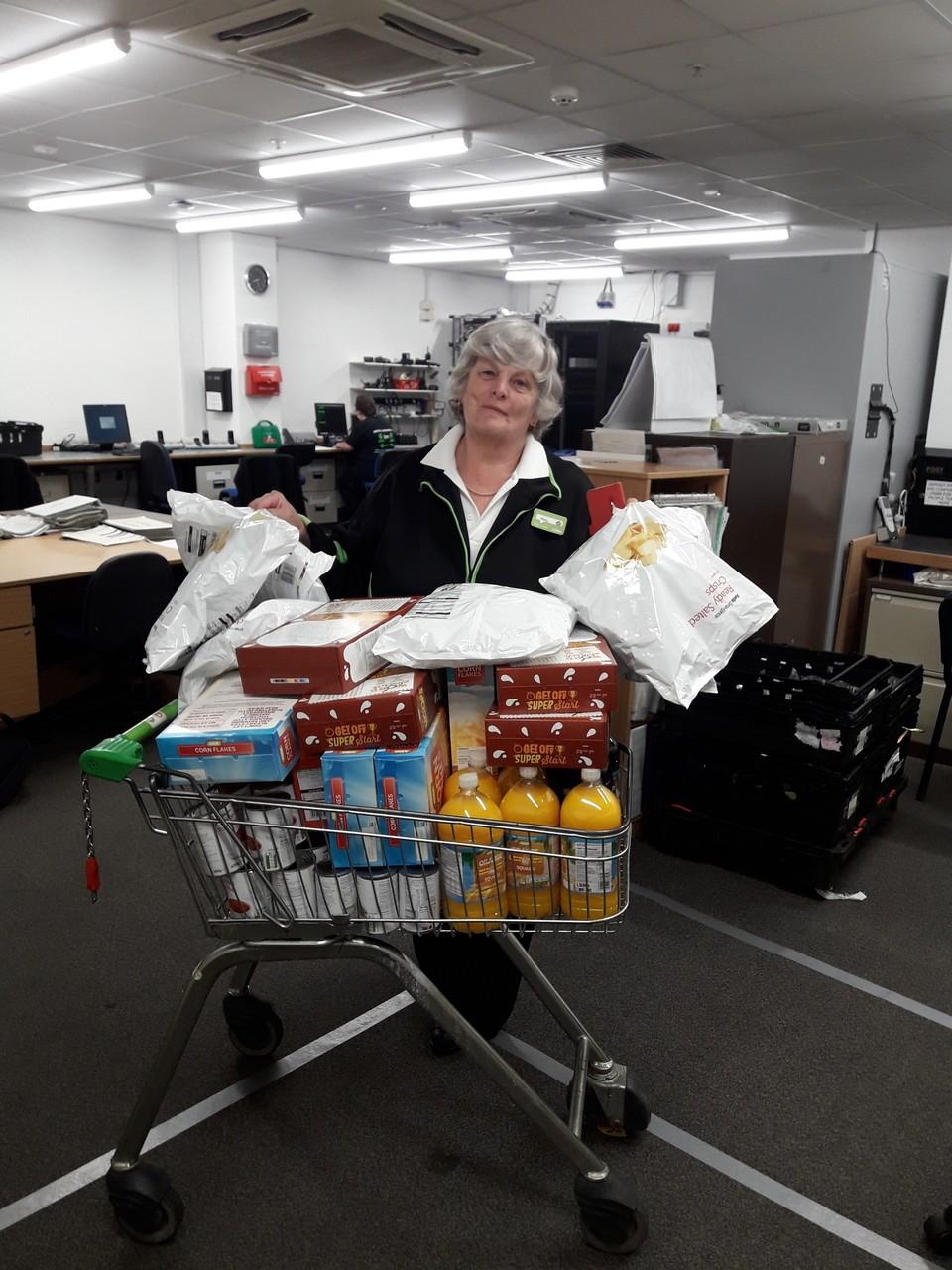 Donation to the food bank | Asda Taunton