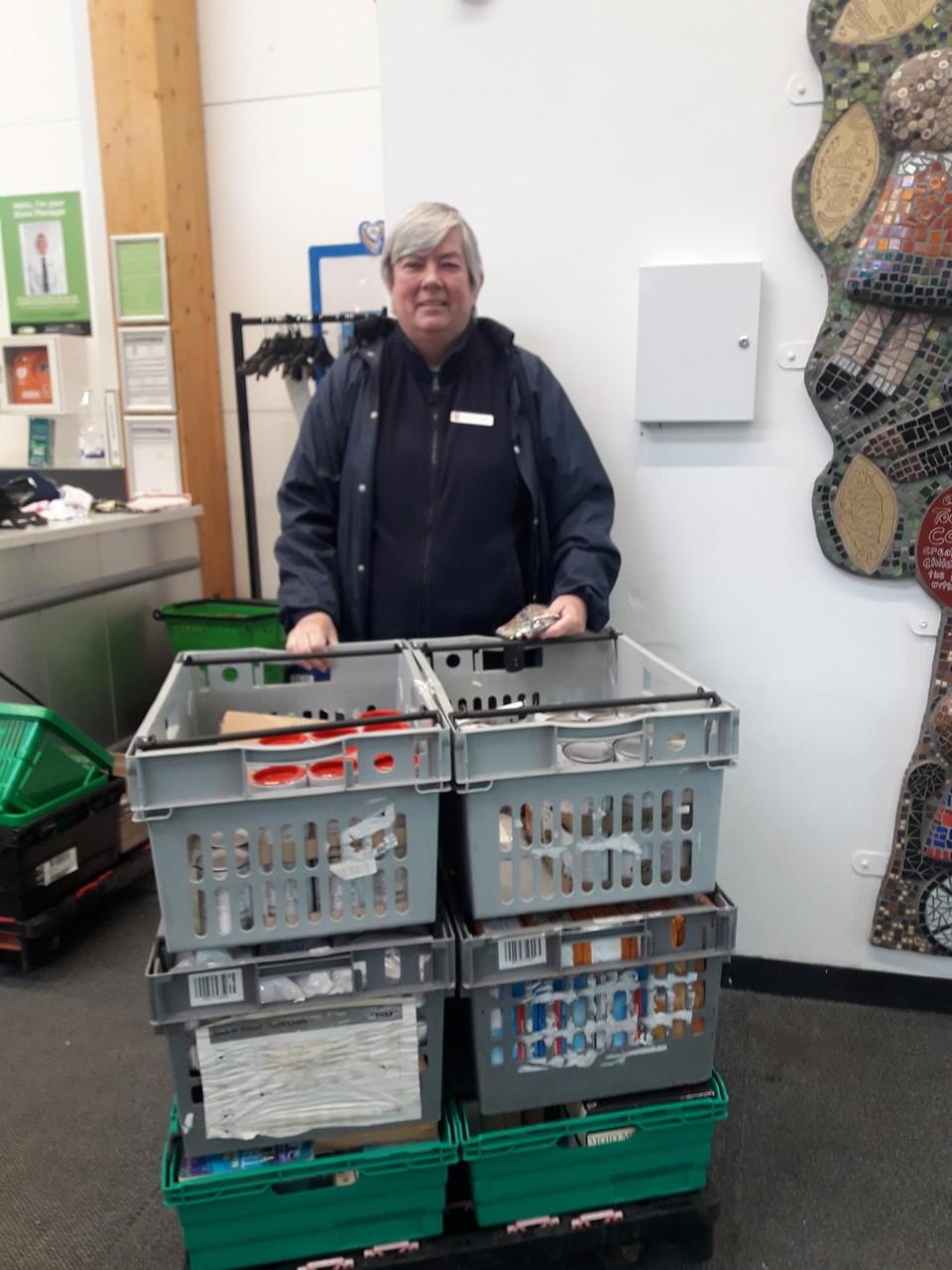 Salvation Army Foodbank doantion | Asda Shaw
