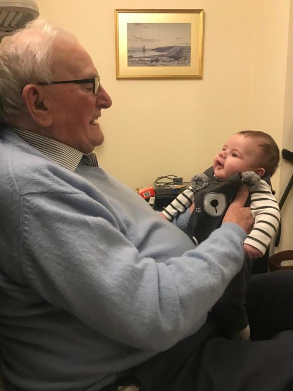 Norman with great-grandson Noah