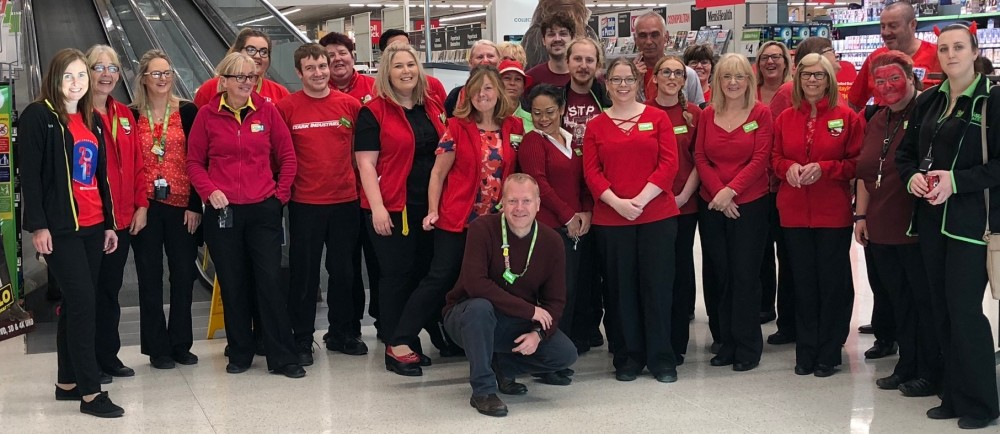 Colleagues at our Donnington Wood store supporting Zac Oliver's appeal
