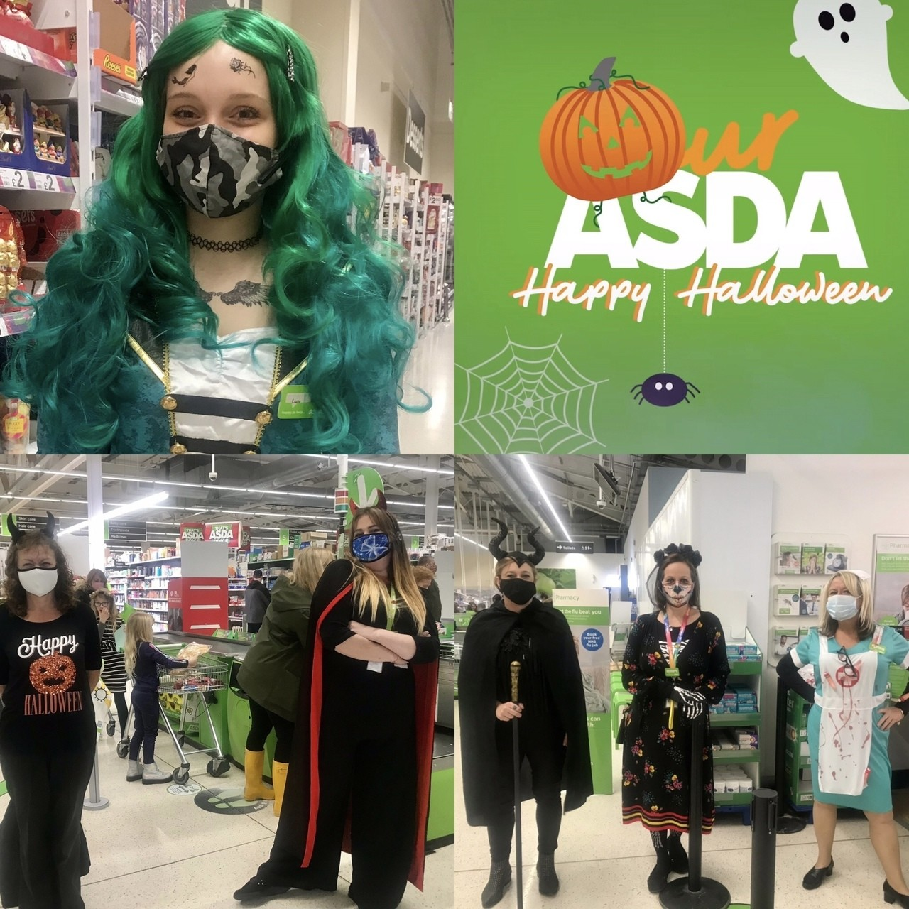 Amazing Halloween colleagues! | Asda Frome