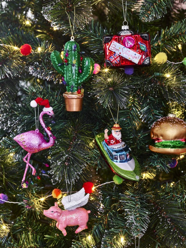 Santa's Vacation baubles from George at Asda