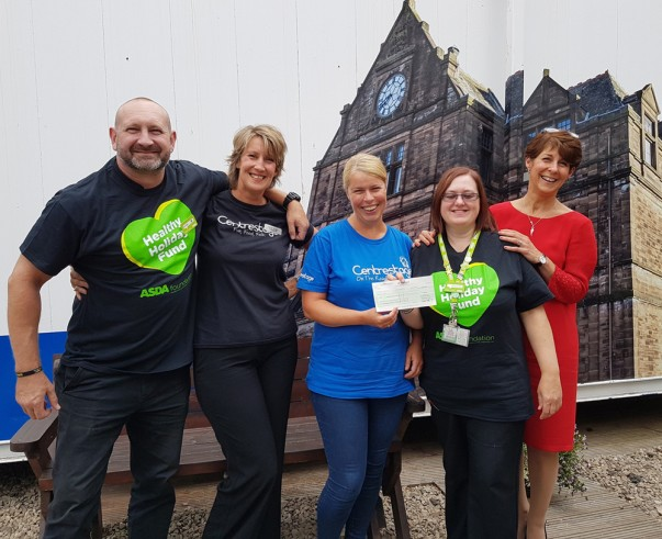 George and Amanda from Asda Kilmarnock donate to Centrestage