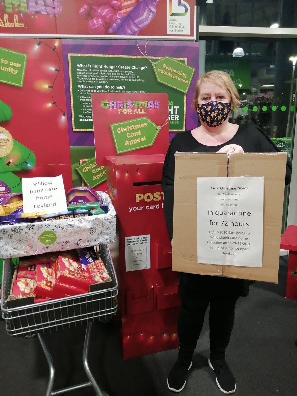 Christmas card appeal thanks | Asda Clayton Green