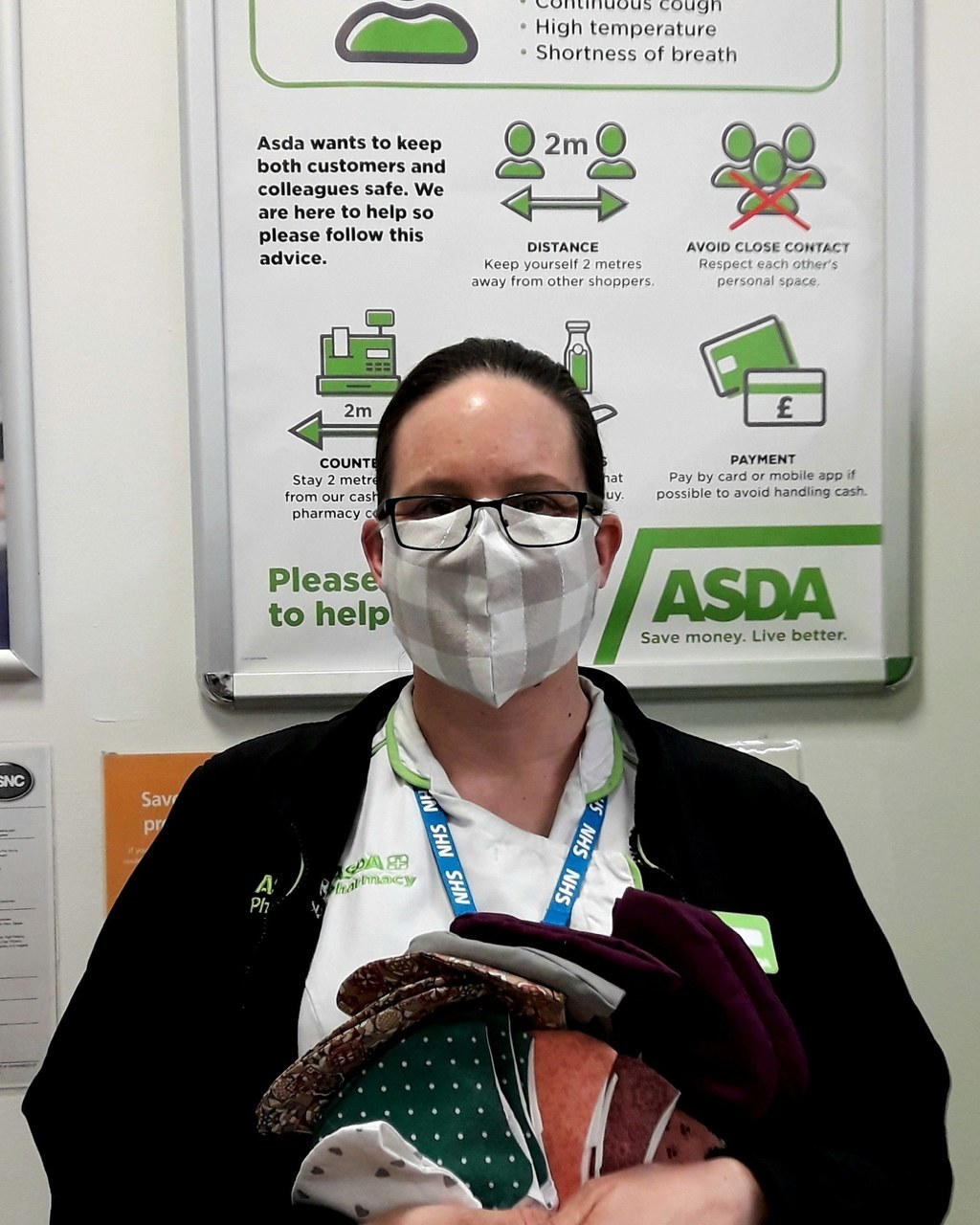 Pharmacy colleague Tina makes masks to protect friends and family | Asda Leamington Spa