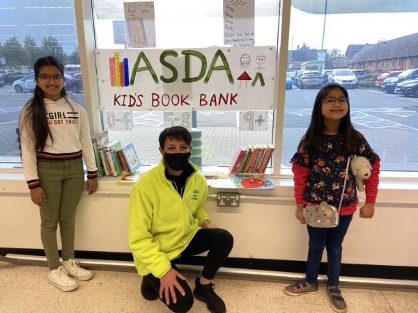 Eyva sets up children's Book Bank in our Biggleswade store | Asda Biggleswade
