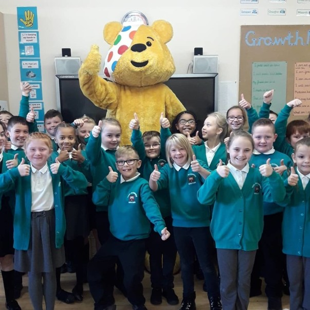 Colleagues at Asda Wrexham raise money for Children in Need