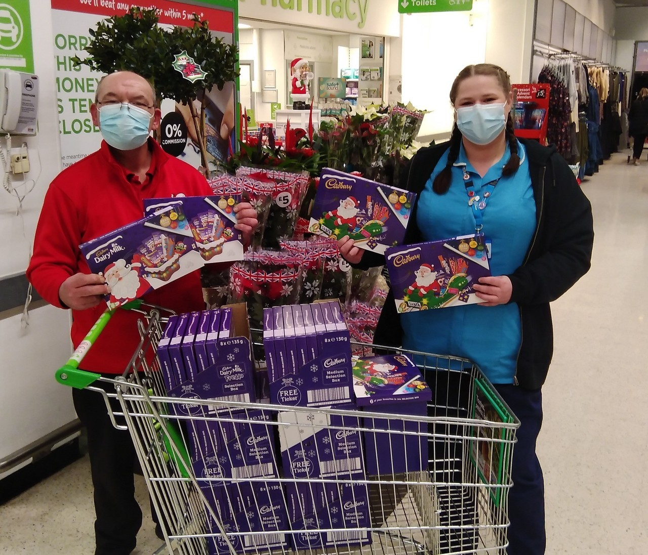 Festive thank you to NHS | Asda Stafford