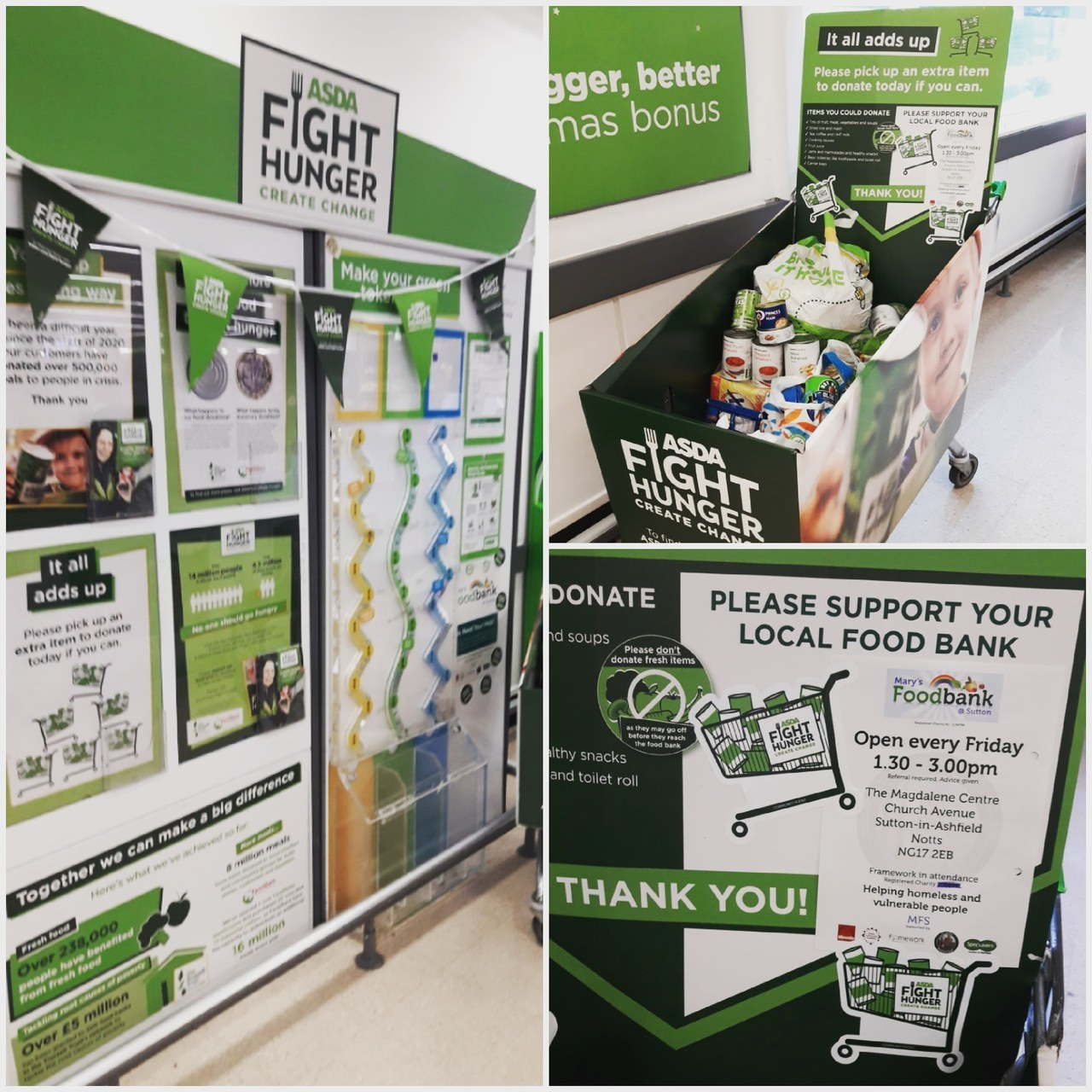 Fight Hunger Campaign  | Asda Sutton in Ashfield
