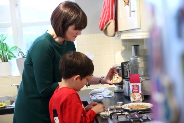 Sophie and Felix baking