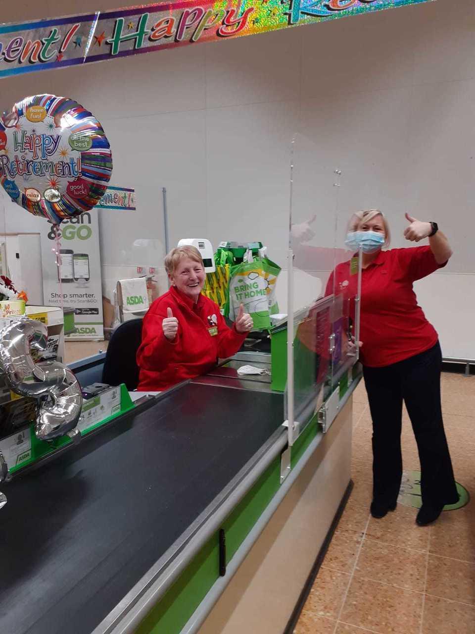 Farewell to retiring colleague Liz... | Asda Blantyre