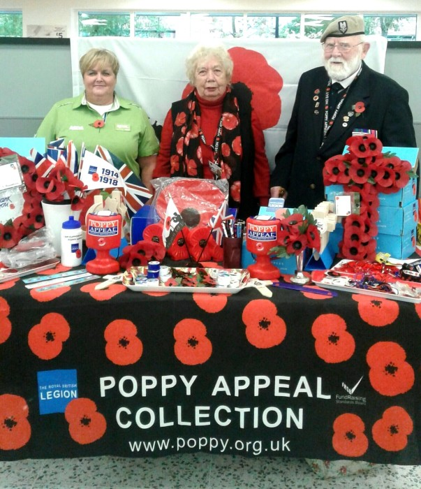 Poppy Appeal at Asda Gosforth