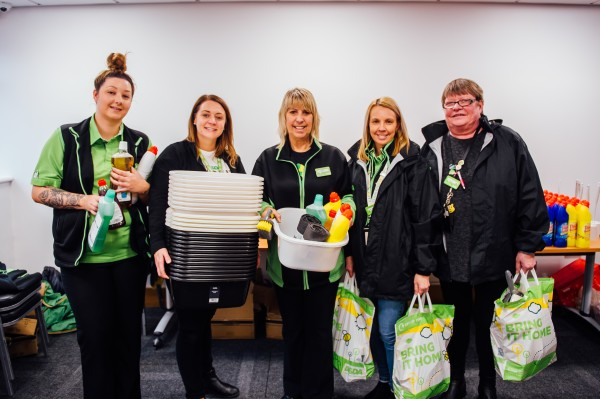 Asda community champions help food victims of Storm Dennis at Mountain Ash Community Hub