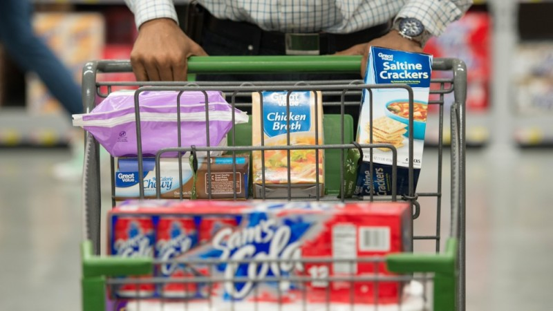 Great value products in a shopping cart