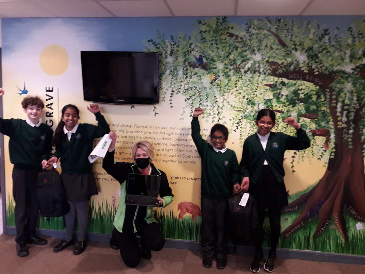 Laptops for Walsgrave C of E School | Asda Coventry