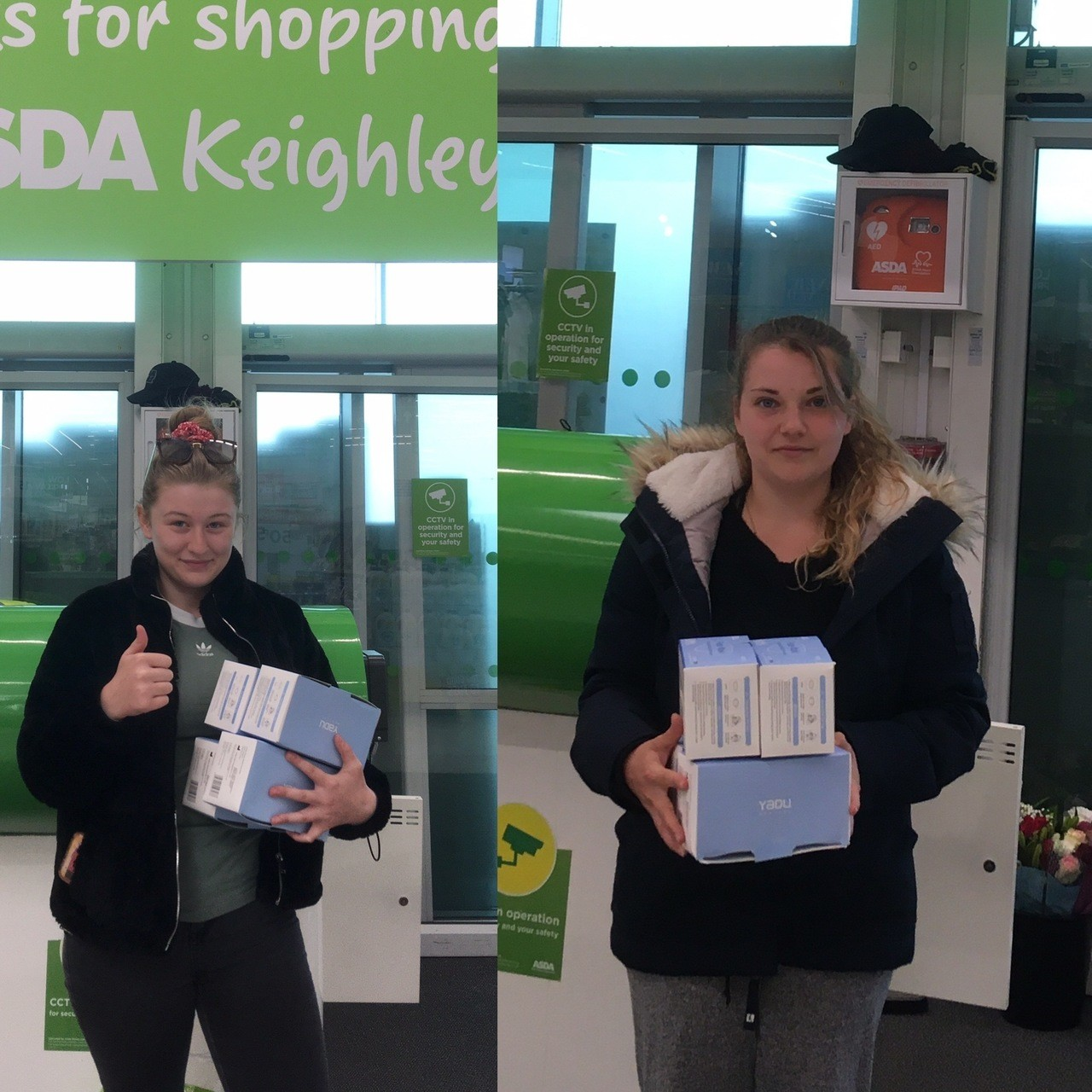 Care homes collect masks | Asda Keighley