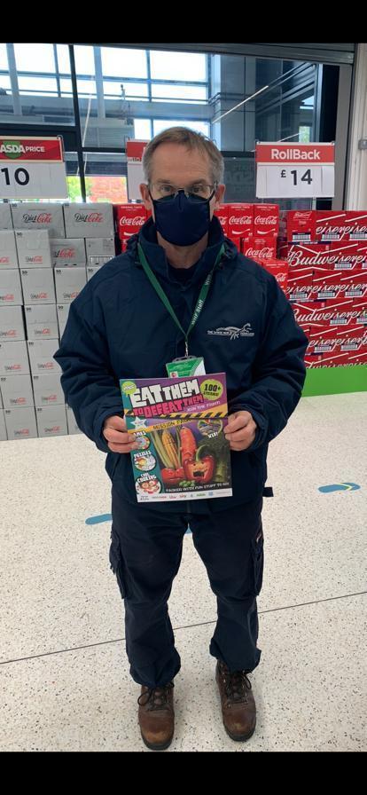Eat Them to Defeat them magazine donation | Asda Swindon Haydon