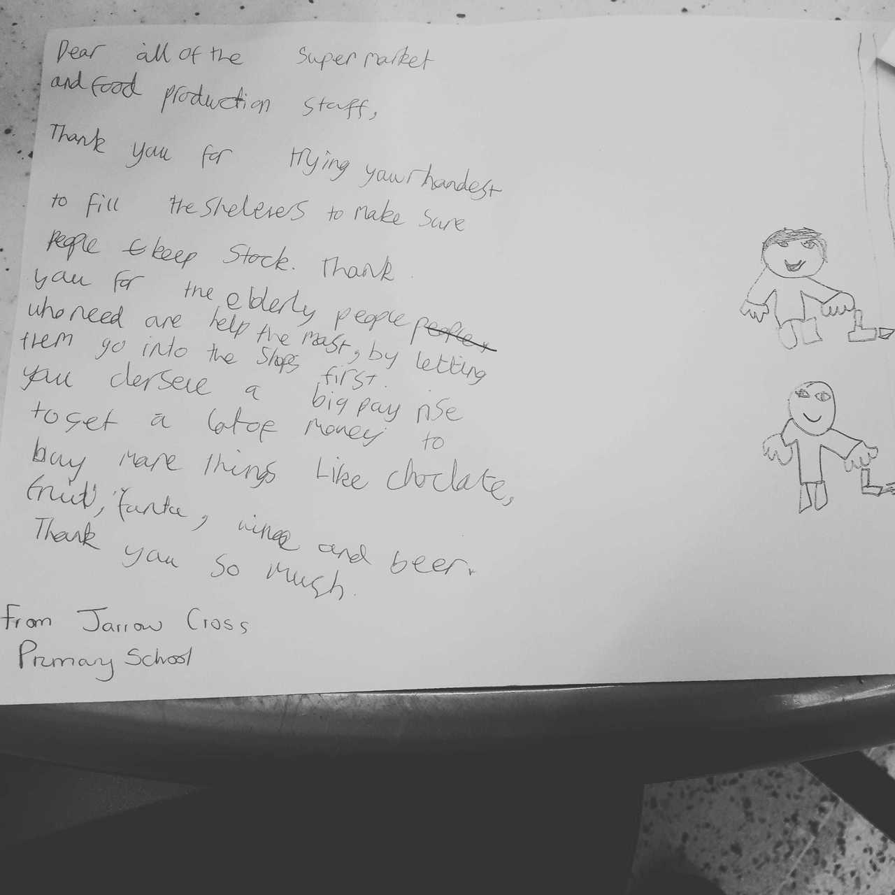Thank you letter | Asda South Shields