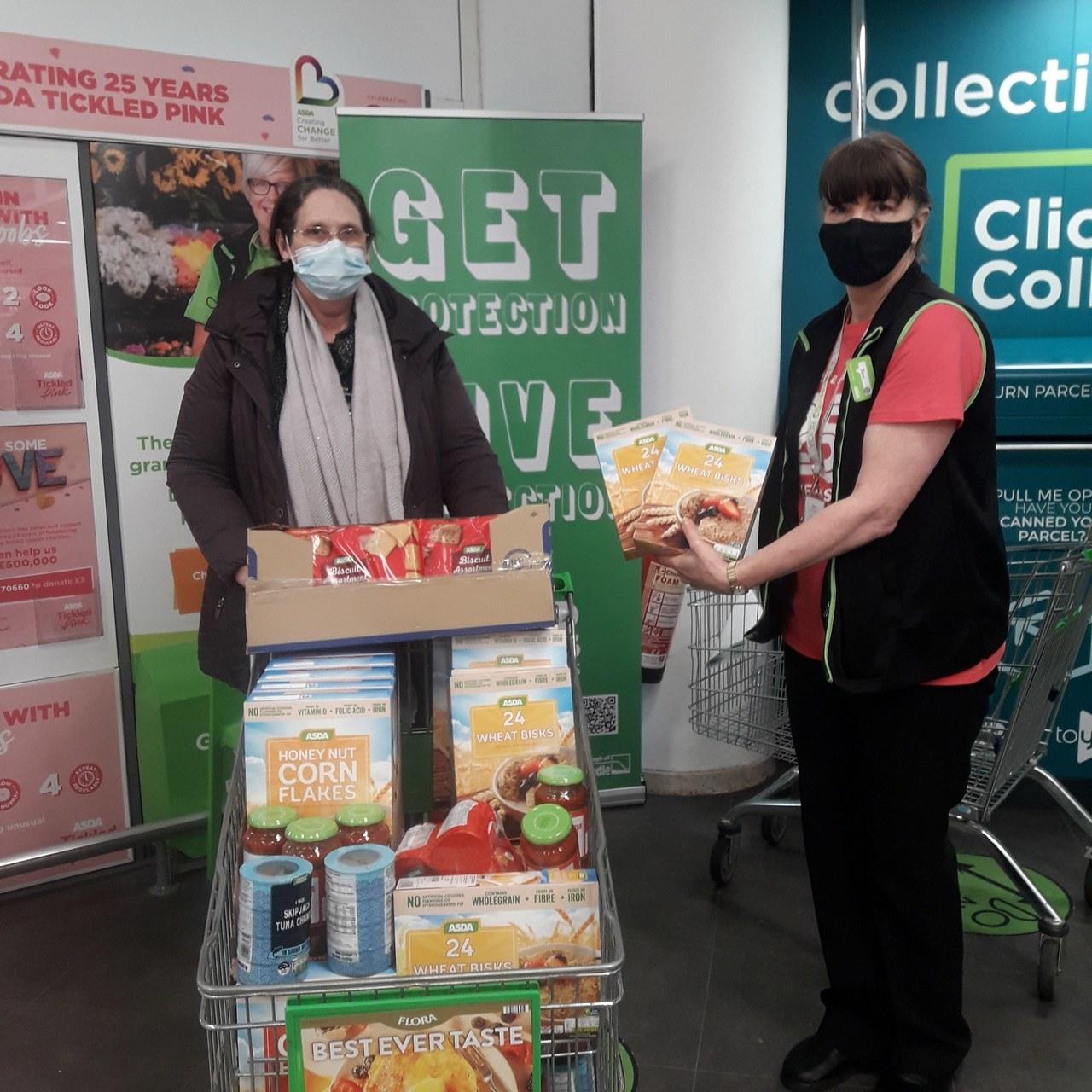 Donation to at Bartholomew Church foodbank | Asda Colne