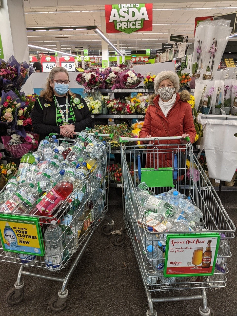 Donations to Basement Project food bank | Asda Bromsgrove