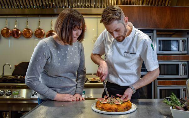 Blogger Sophie Skipp with Asda development chef Andrew Johnston