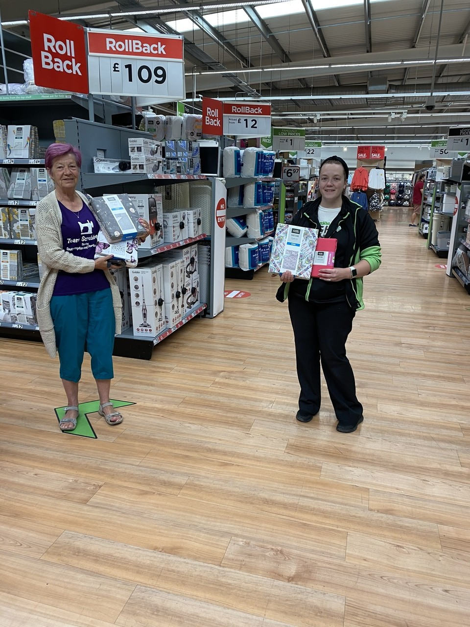 Team Scrubbers donation | Asda Portsmouth