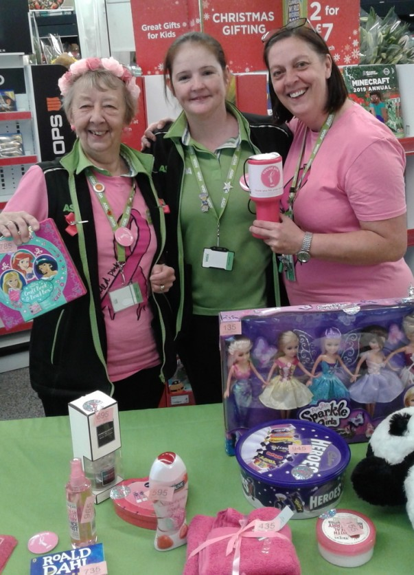 Asda Reddish colleagues Tickled Pink