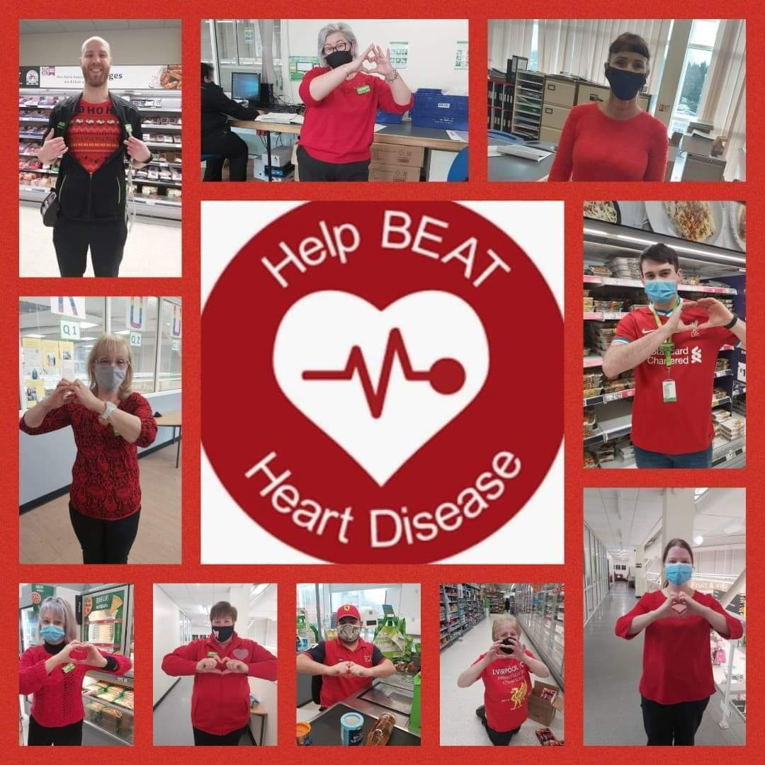 Showing our support on Heart Disease Day | Asda Donnington Wood