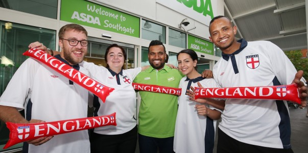 Asda Southgate colleagues backing England