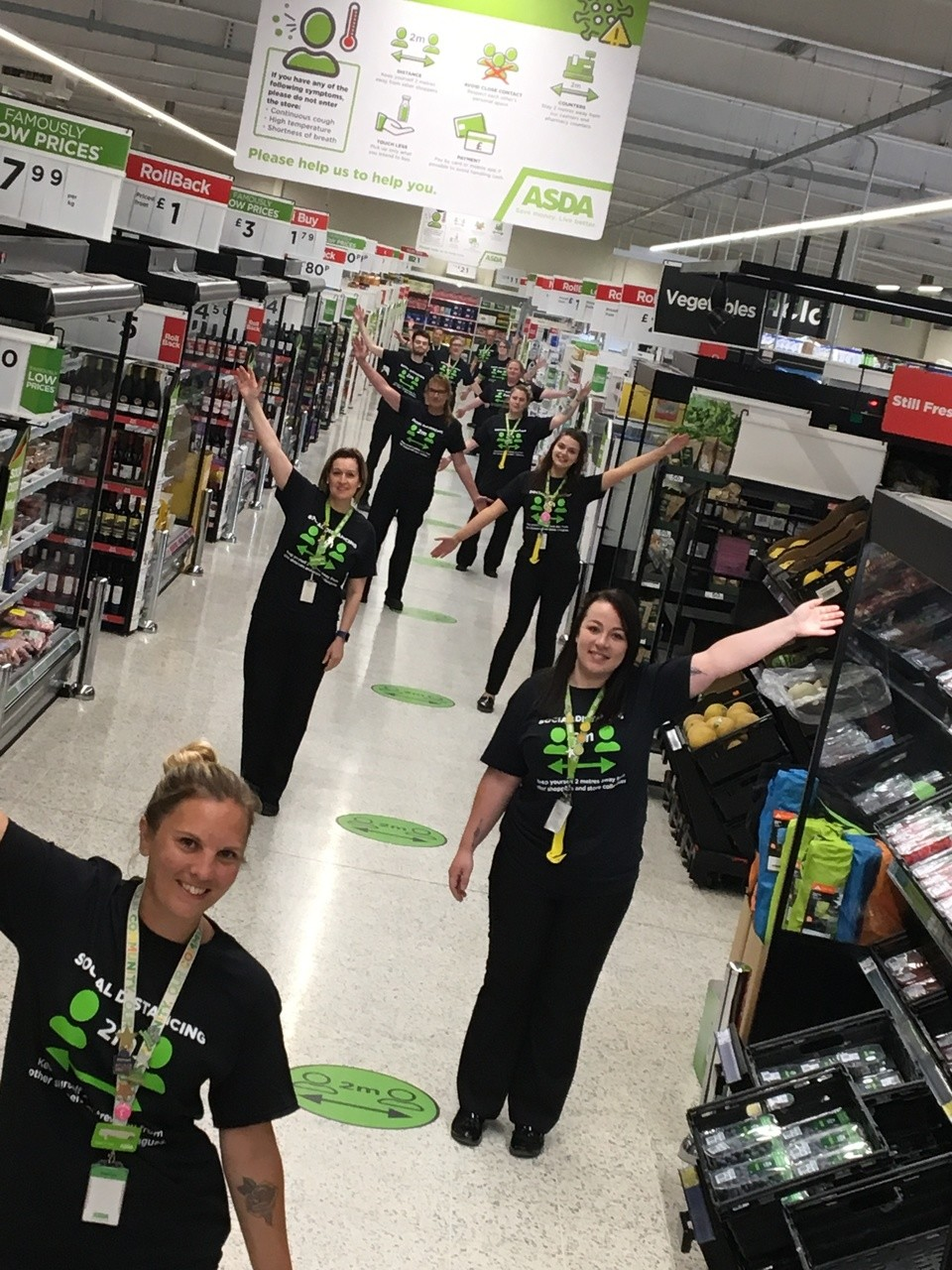 Social distancing T-shirts | Asda Clacton-on-Sea