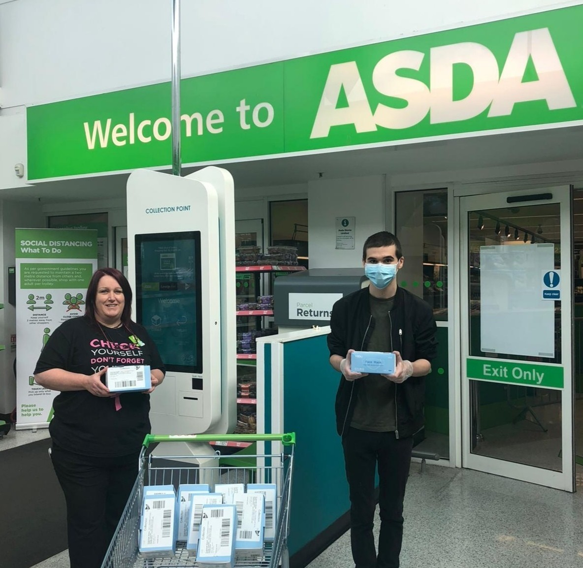Donating medical grade face masks to local care home | Asda Dundonald