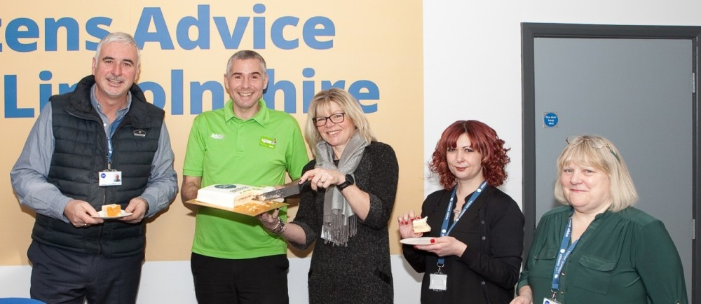 Citizens Advice Mid Lincolnshire received a cheque for £8,000 from the Asda Foundation