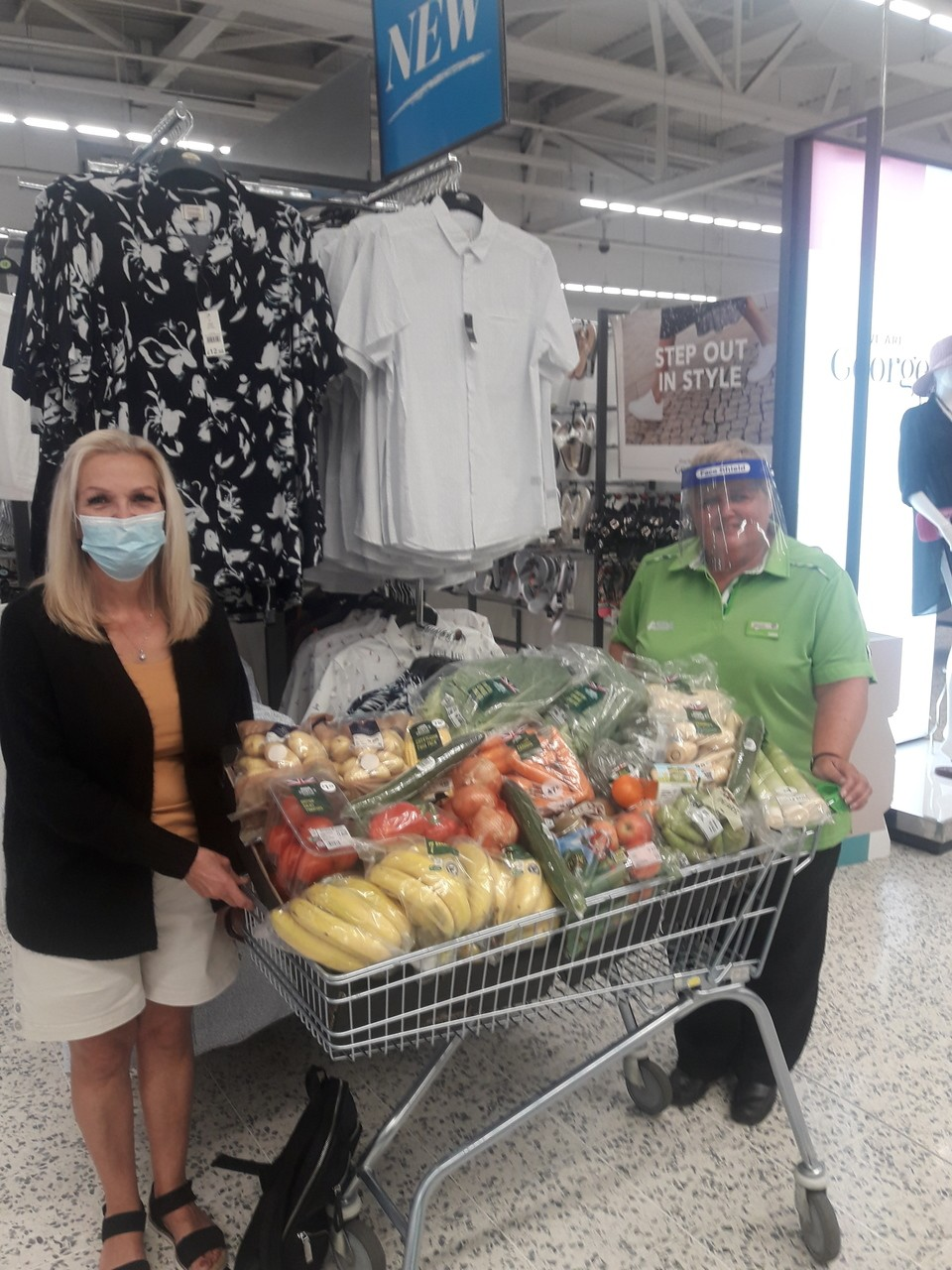 Donation of fruit and vegetables to PlayinNewcastle - youth services  | Asda Gosforth