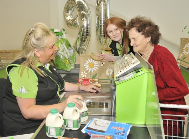 Happy 90th birthday Olive from Asda Rushden