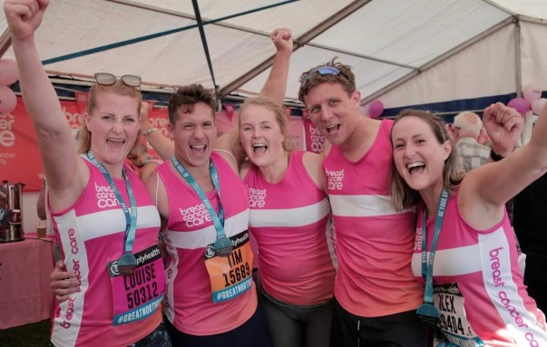 Inspirational colleague Alex helps to raise £6.200 for Tickled Pink by completing Great North Run