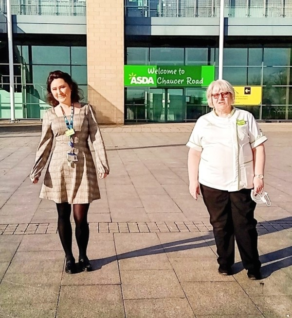Anna Tryka and Mags Shaw from Asda Sheffield Chaucer Road