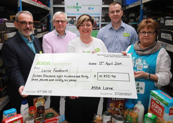 Asda Fight Hunger Create Change at Larne Foodbank