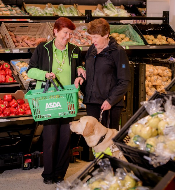 Lorna helps Mandy with her shopping at Asda St Leonards