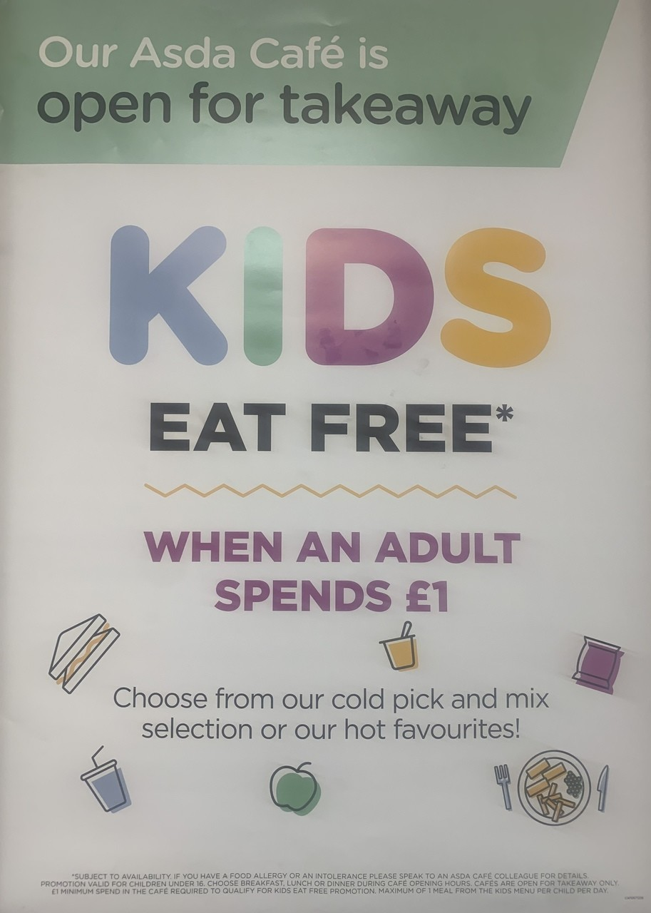 Kids Eat Free offer | Asda Middleton
