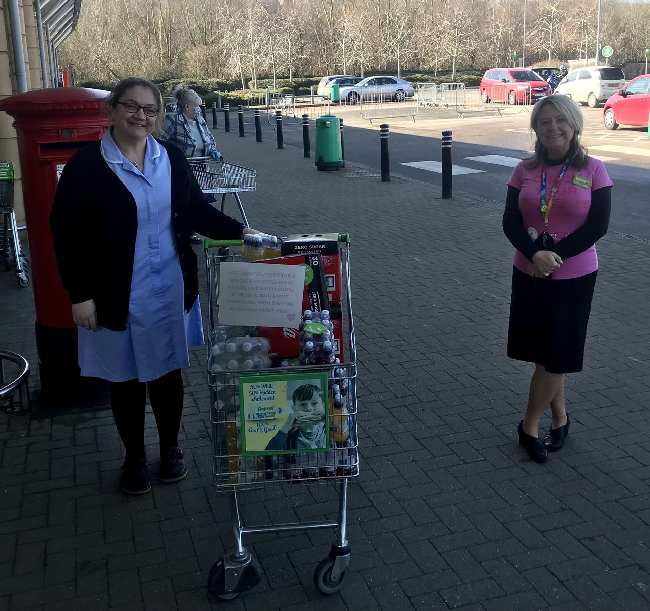 Donation to vaccination centre | Asda Frome