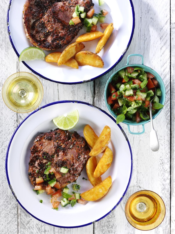 Chilli and Lime sizzle steaks