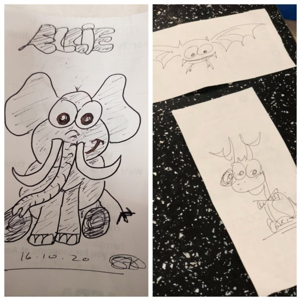 Doodles by Sally Loveday at Asda Bridgend