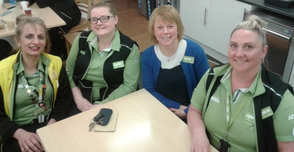 'Work mum' colleagues at Asda Reddish ahead of Mother's Day