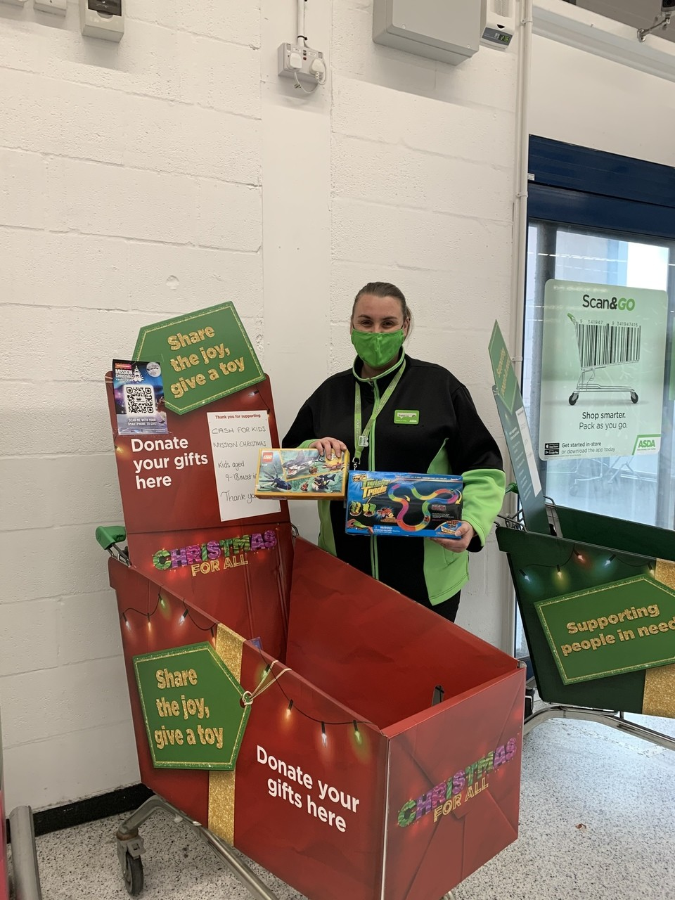 Mission Christmas appeal | Asda Aberdeen Beach